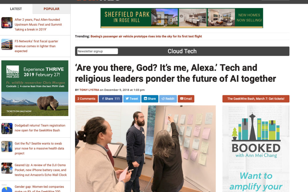 AI and Faith Co-Sponsored Unconference Featured on GeekWire