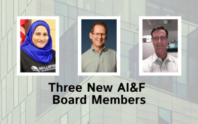Three Founding Members Join AI&F's Governing Board